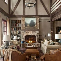 Lake House Living Room Ideas Decorating For With Fireplace And Tv Rustic Cabin Decor Making A Georgia Home