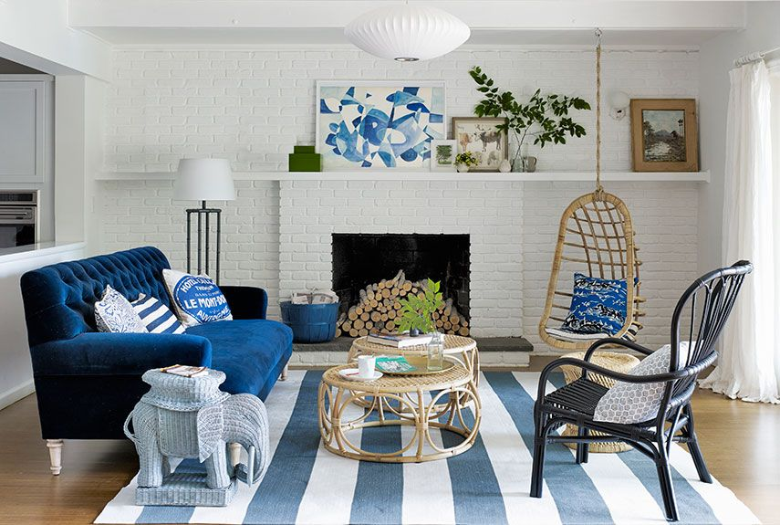 blue walls living room studio apartment ideas 25 best rooms decorating for and home decor