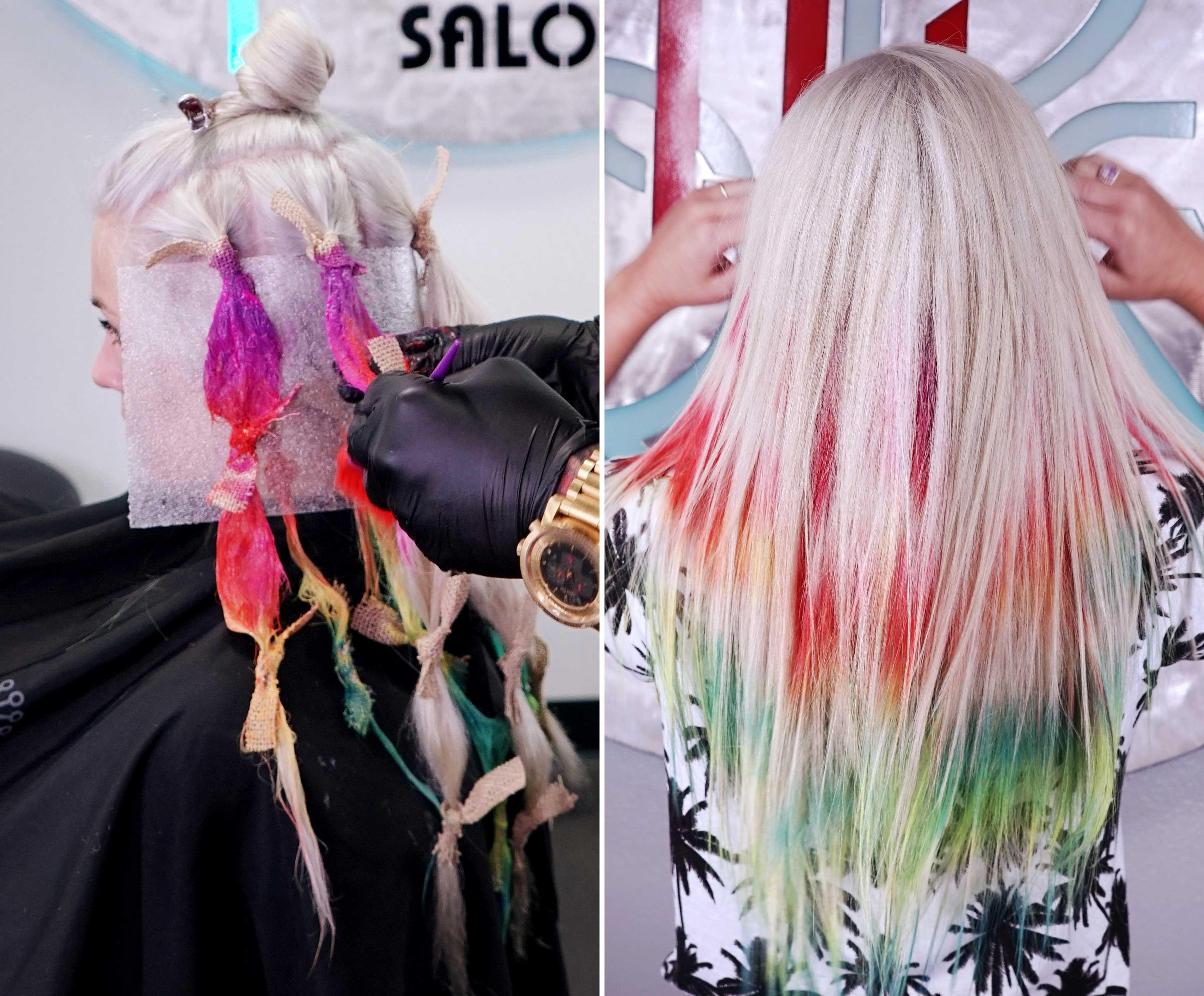 tie dye hair is