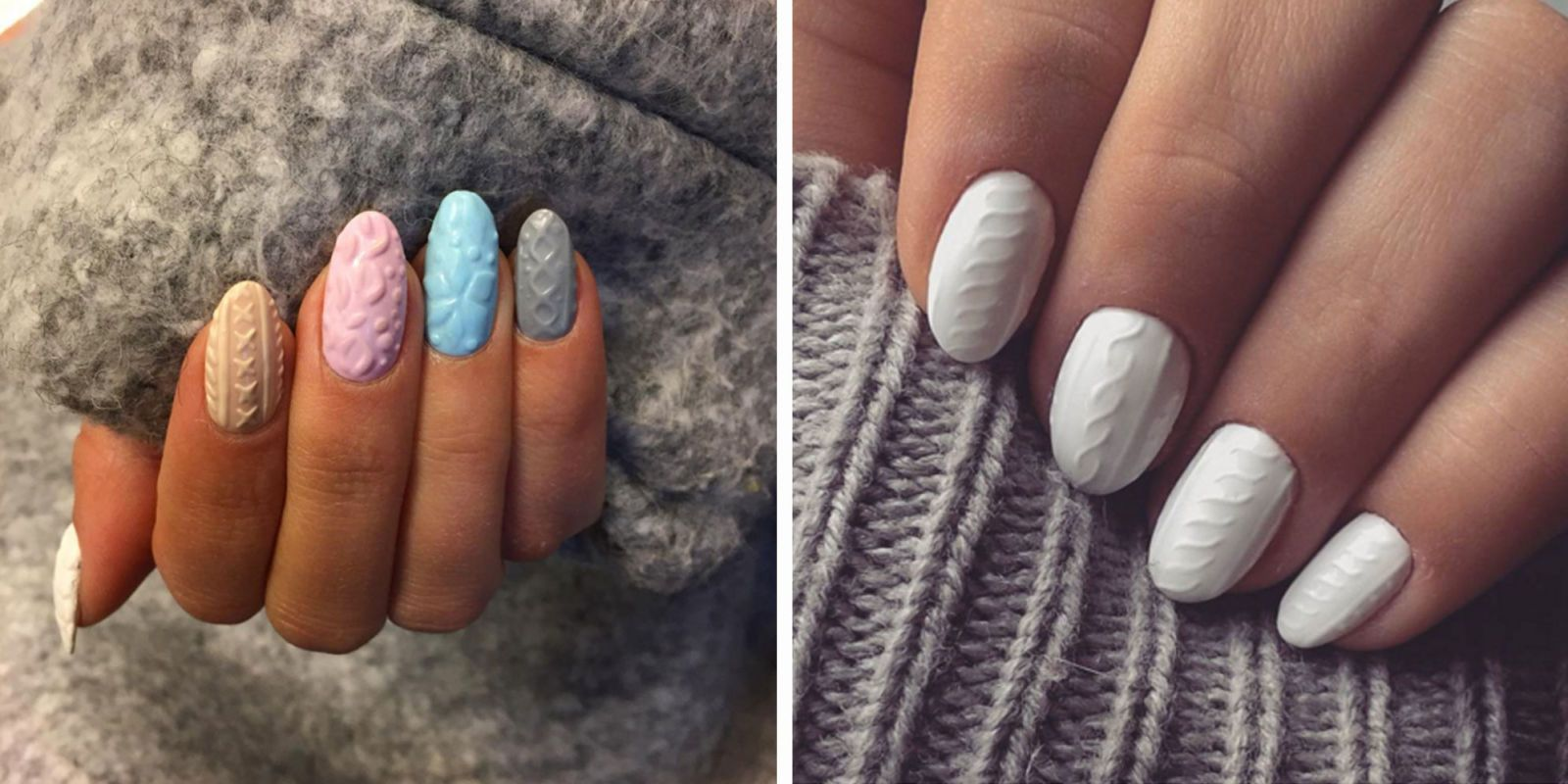 Cozy Knitted Nail Art Allows Your Nails To Bundle Up In A Sweater Too