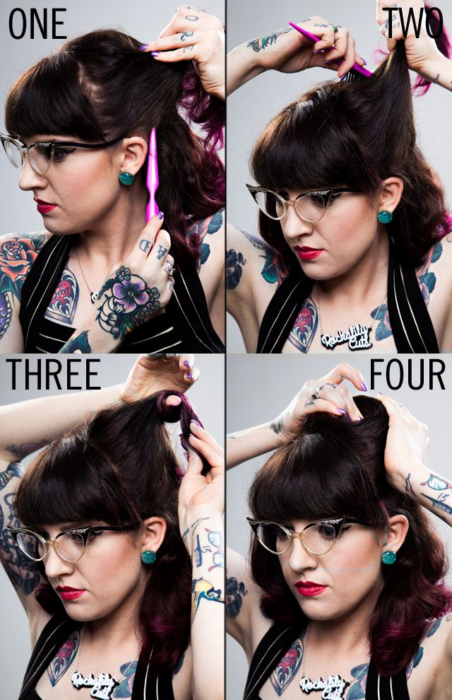Hair How To Victory Rolls Vintage Hairstyle By Rockalily Cuts