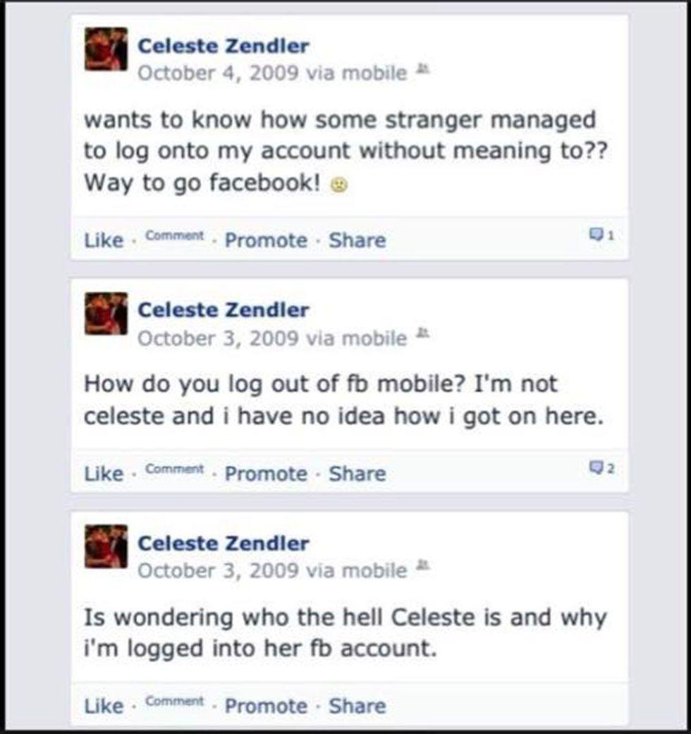 random facebook glitch creates