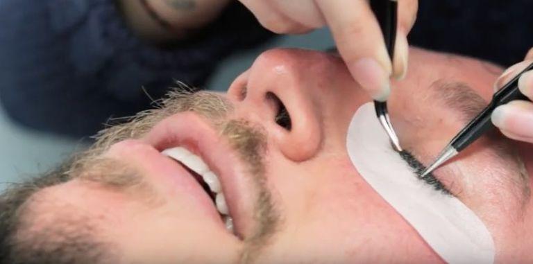men get eyelash extensions