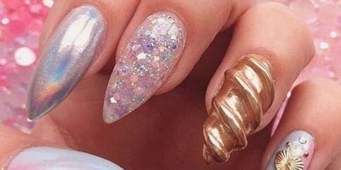 3d unicorn nails