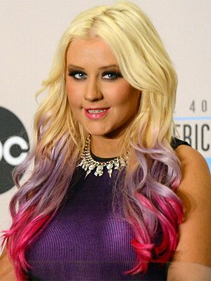 celebrities with crazy hair colours