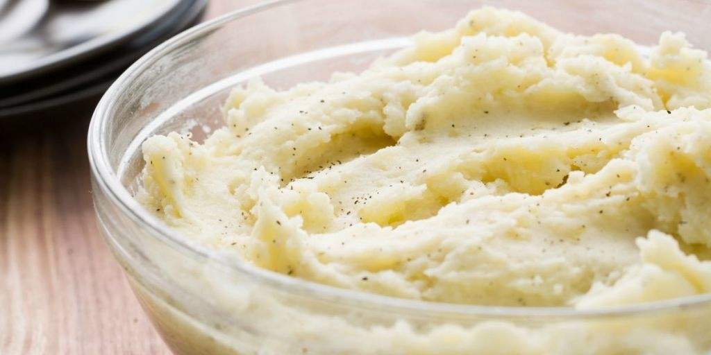 eating store bought mashed potatoes