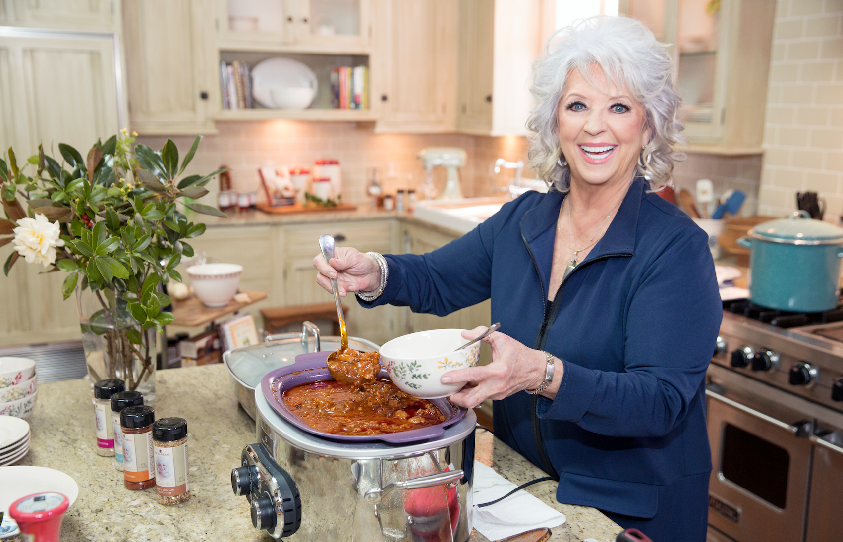paula deen kitchen slip resistant shoes s new show is unlike anything you ve seen before delish com behind the scenes of