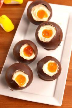 Cheesecake Eggs Vertical