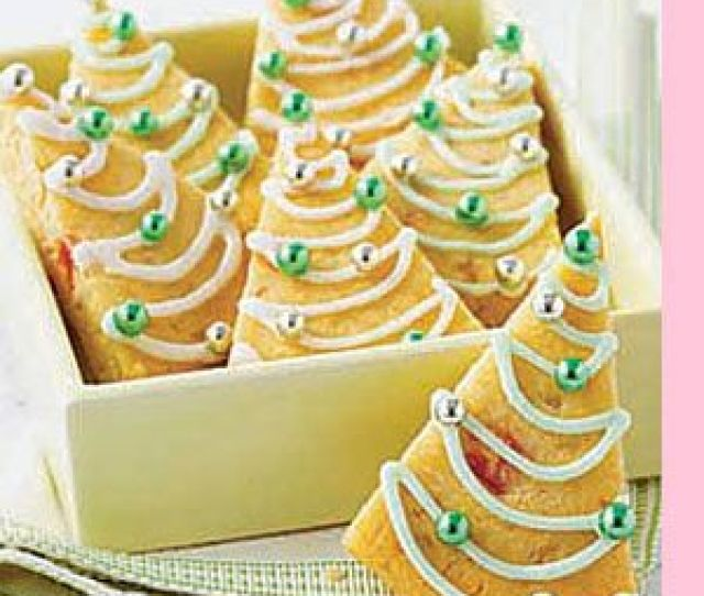 These Modern Looking Christmas Tree Shaped Shortbread Cookies Have A Refreshing