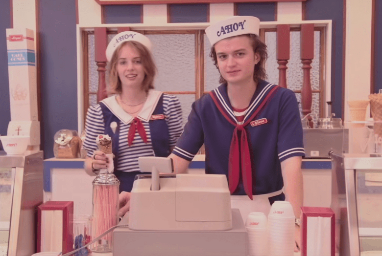 Stranger Things Season Three- Steve with a co-worker!