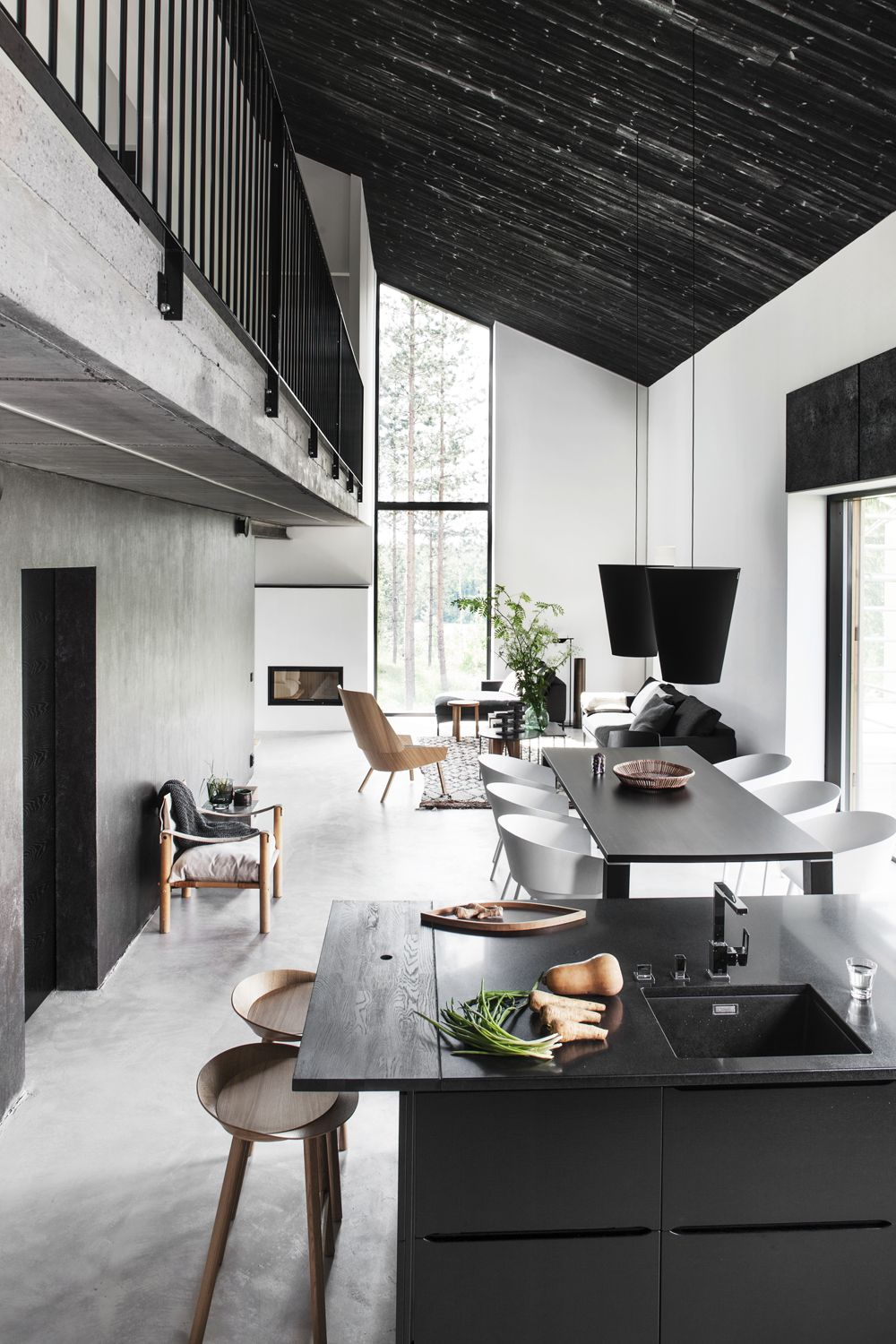 black and white living rooms modern furniture 44 striking room ideas how to use decor walls