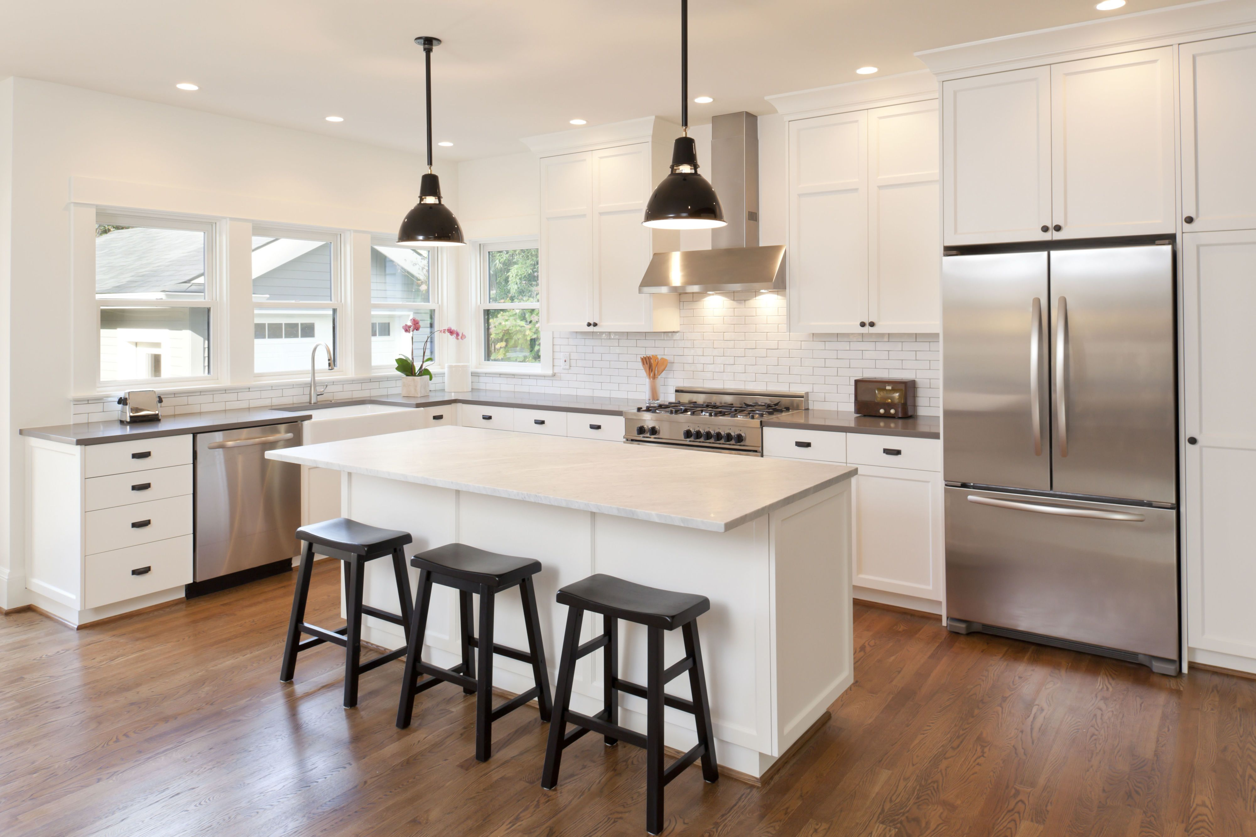 renovated kitchen hanging lighting fixtures for best cabinet ideas types of cabinets to choose how the