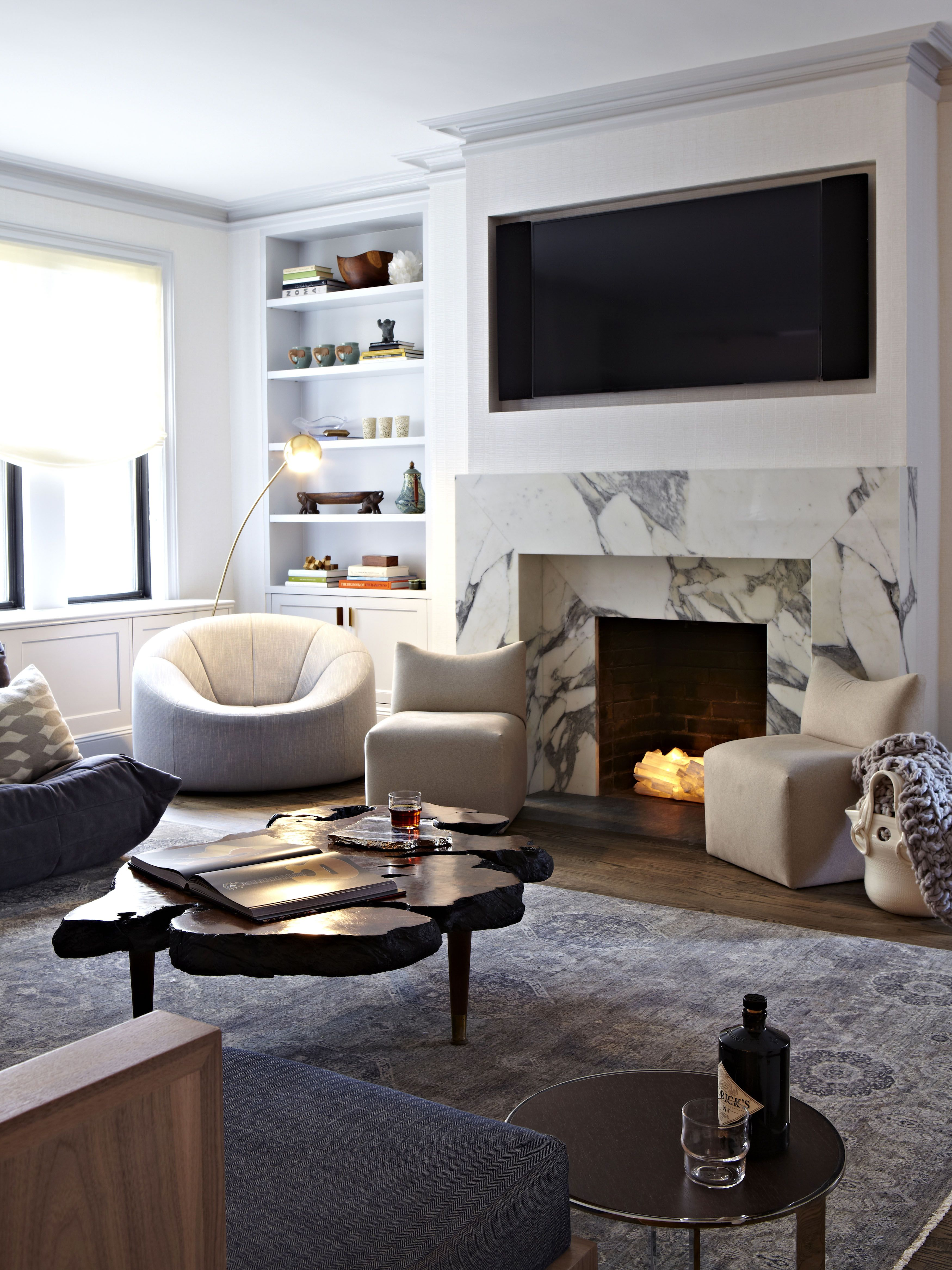 decorate small living room with fireplace black and gold furniture 12 decorating ideas for nonworking design decor