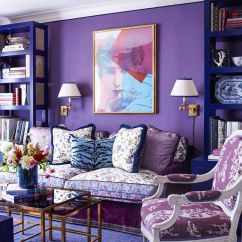 Plum Colored Living Rooms Photos Of With Black Leather Furniture 25 Purple Room Decorating Ideas How To Use Walls Decor