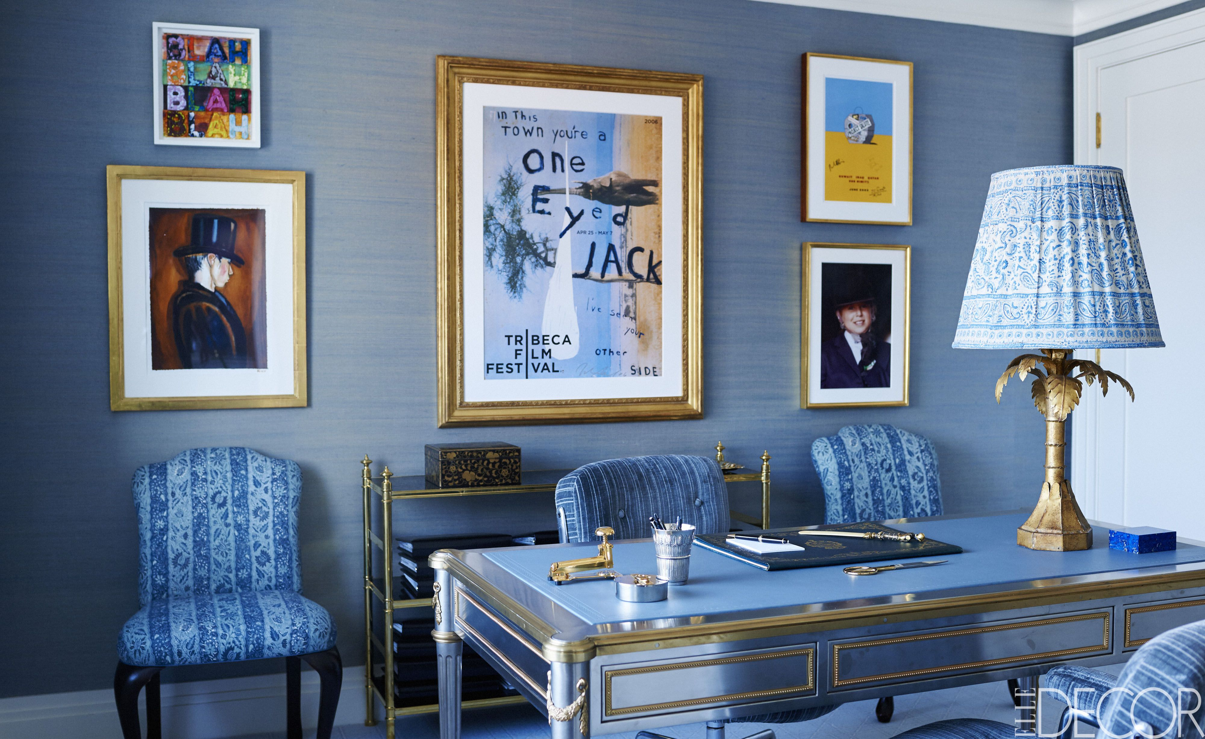 blue walls living room modern curtains photos 50 decorating ideas how to use wall paint decor