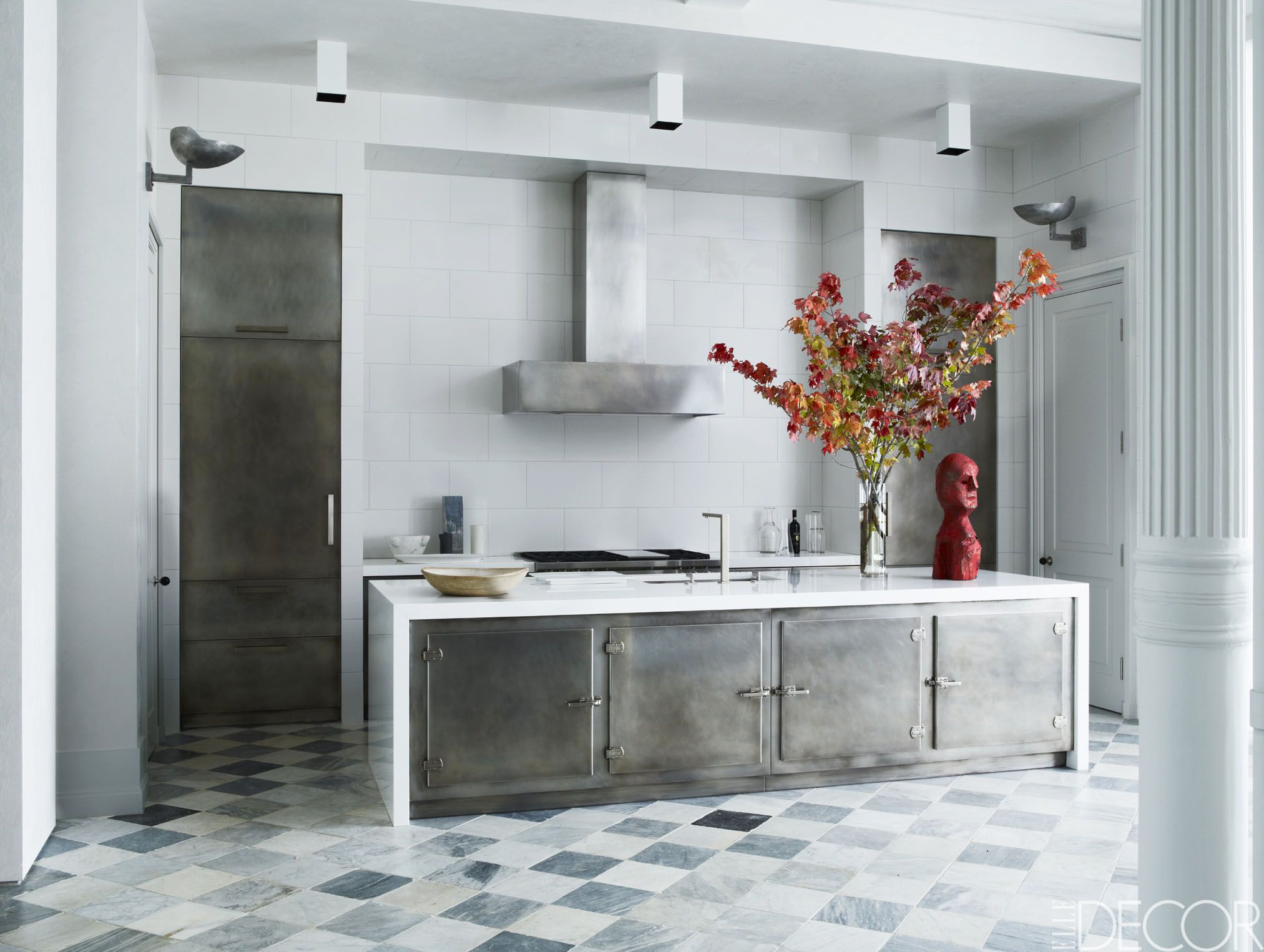 black and white tile kitchen carts with wheels 26 gorgeous kitchens ideas for decor in