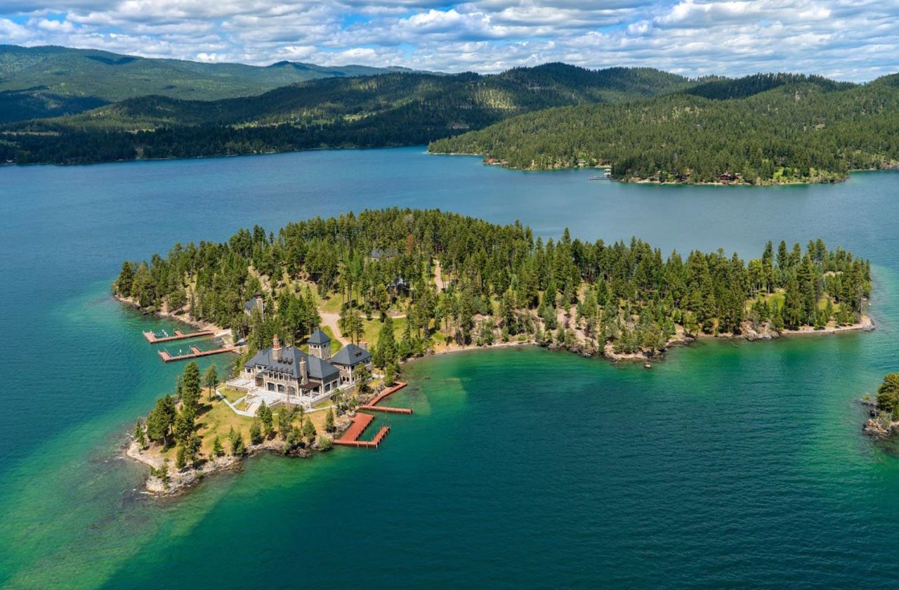 Private Island Mansion For Sale  Montana Luxury Listings