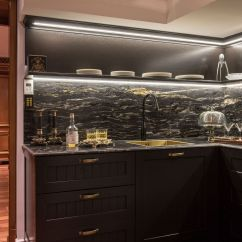 Kitchen Black Cabinets Light 30 Sophisticated Designs With Cupboards