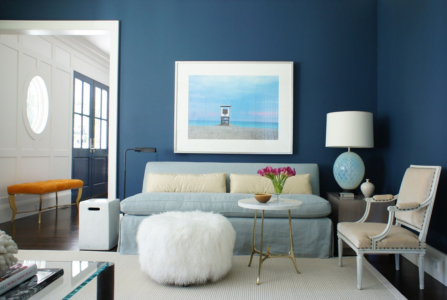 blue walls living room navy set 53 stylish ideas for painted accent