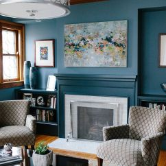 Blue Walls Living Room Small Design Styles 53 Stylish Ideas For Painted Accent