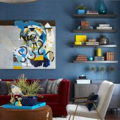 Blue Walls Living Room How To Decorate Your With Indoor Plants 53 Stylish Ideas For Painted Accent