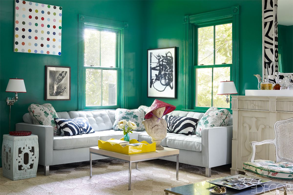green living room walls console tables mirrored 32 ideas how to decorate with wall paint decor interior designer miles redd