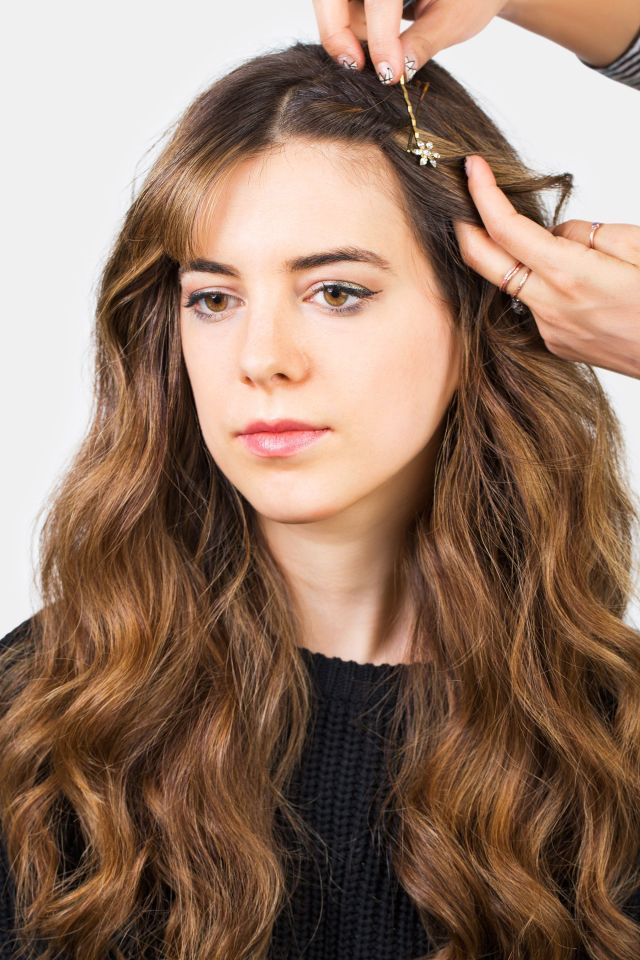 how to style bangs - 5 hairstyles to keep your bangs out of