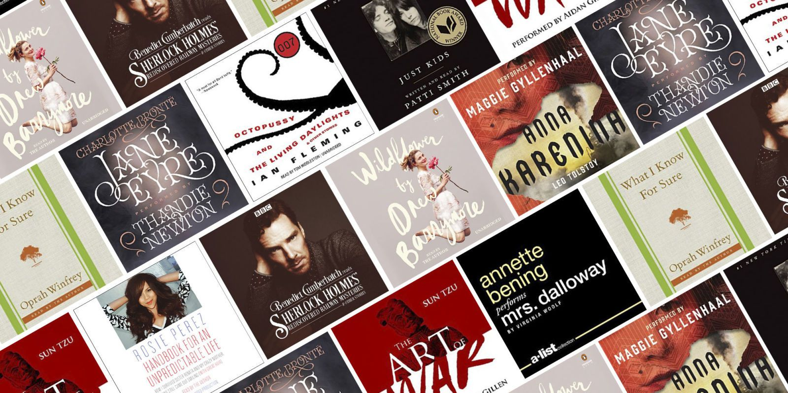 10 audiobooks read by