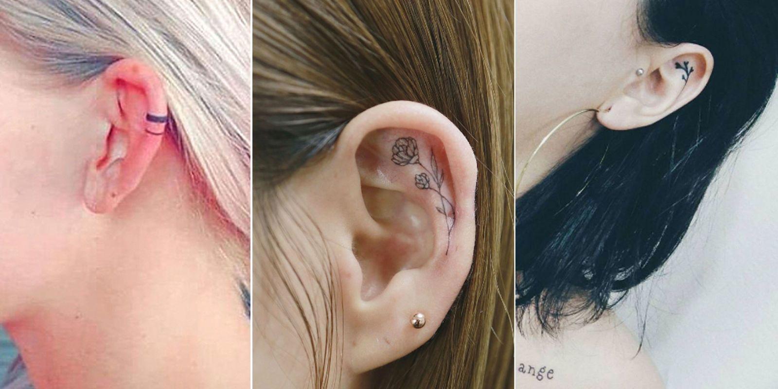Alerta Tendencia Mini Tatuajes En La Oreja