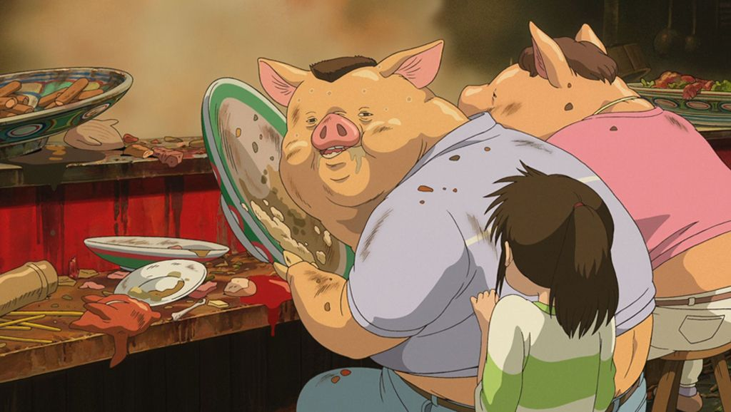 Studio Ghibli revela por qué los padres se convierten en cerdos en 'El viaje de Chihiro'
