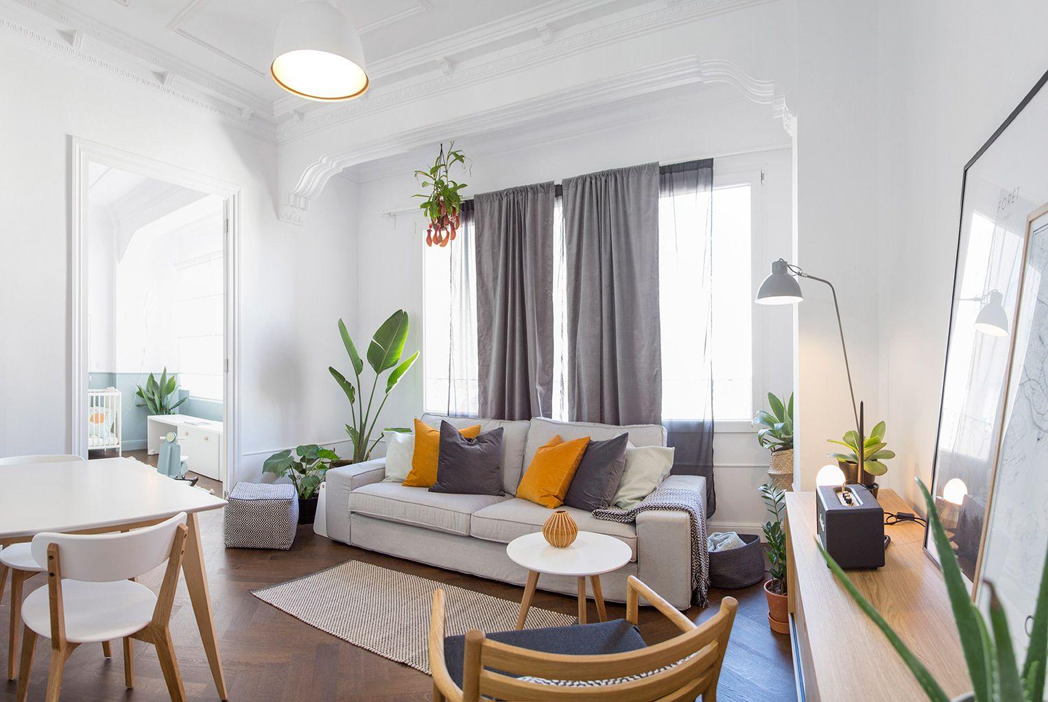 Un piso de 60 m2 adaptado a una familia
