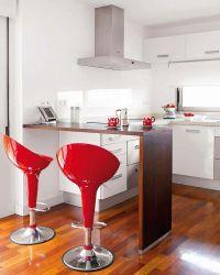 12 cocinas con barra y sus planos Cocinas actuales