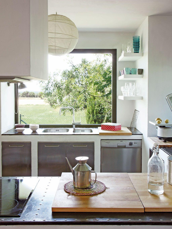 Las cocinas con las mejores vistas fregaderos delante de la ventana