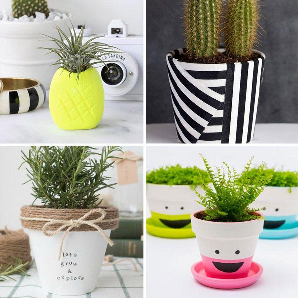 Macetas bonitas Ideas para personalizarlas