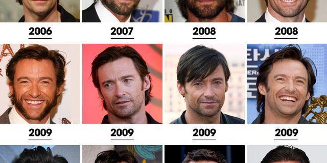 hugh jackman's hair evolution