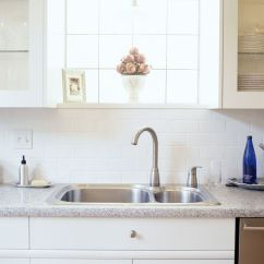 Kitchen Cleaning White Hutch Tips Clean Sink Image