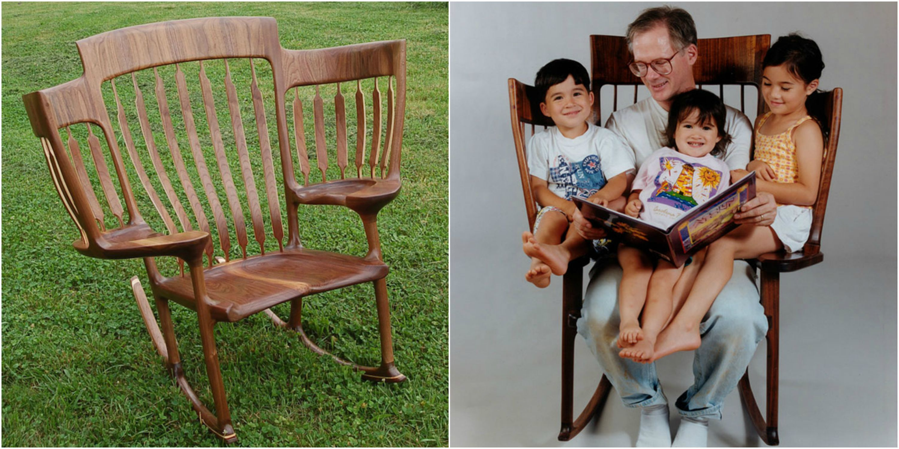 Storytime Chair Triple Rocking Chair Innovative Chair Holds Three Children