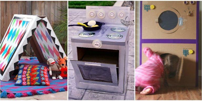 18 Cardboard Box Crafts To Make Kids Cardboard Box Ideas