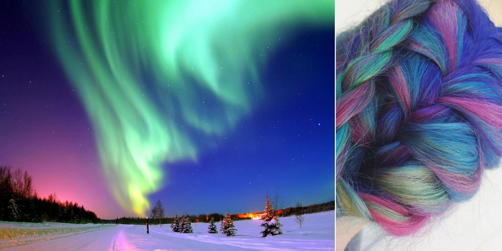 Aurora Borealis Hair Is New Hair Color Trend  Aurora
