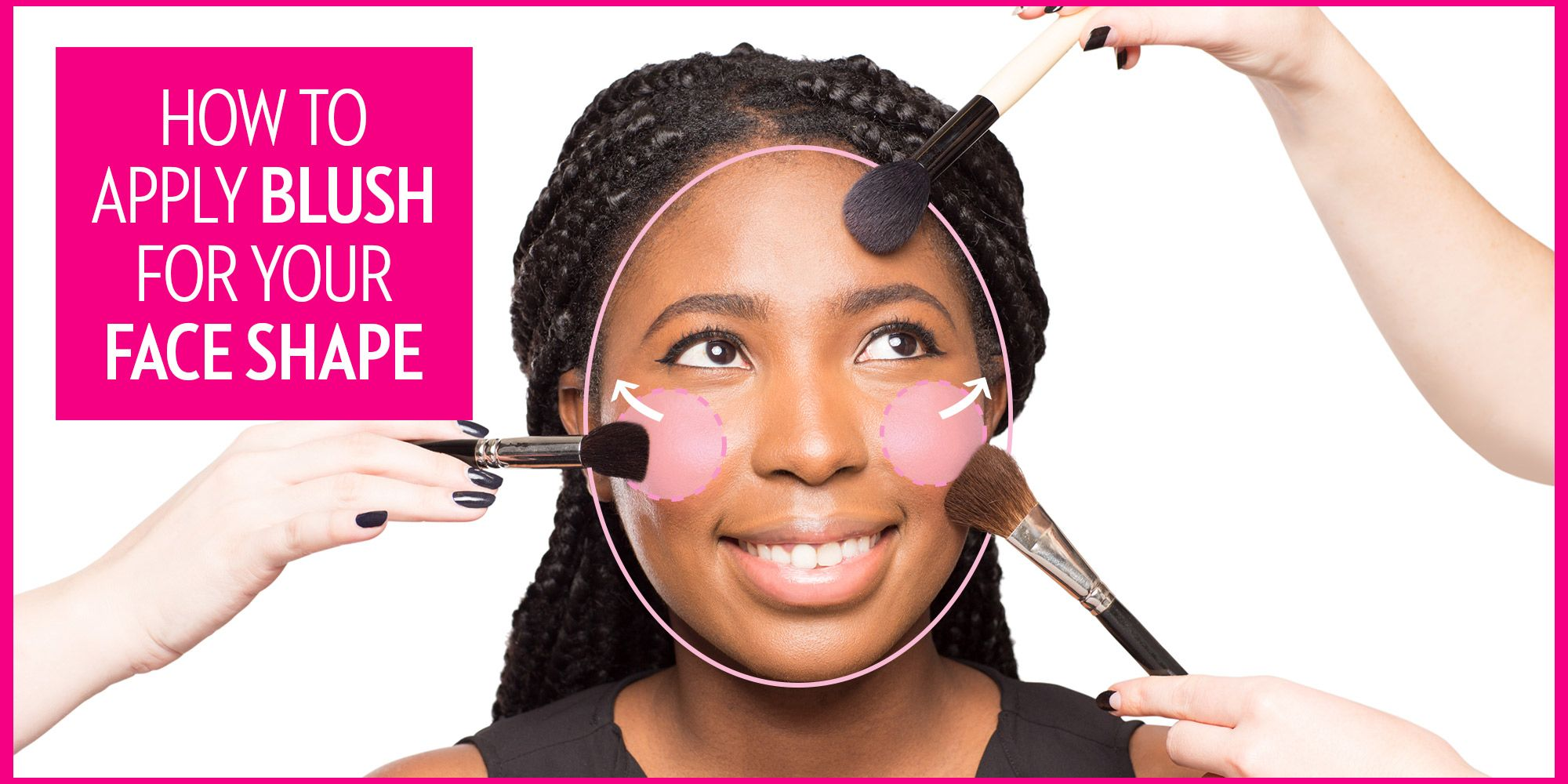 hight resolution of the best way to apply blush according to your face shape