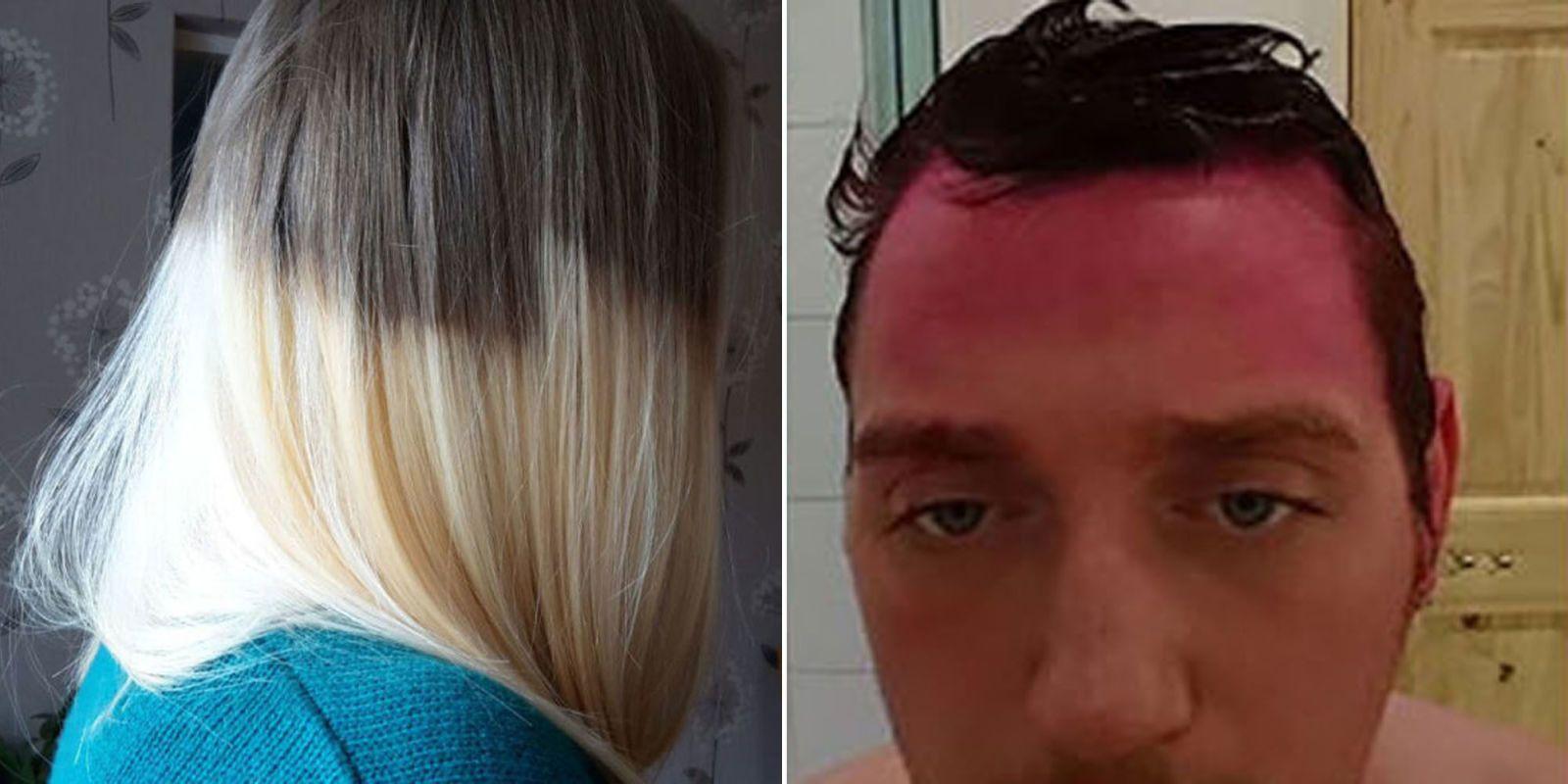 hilarious hair dye fails funny