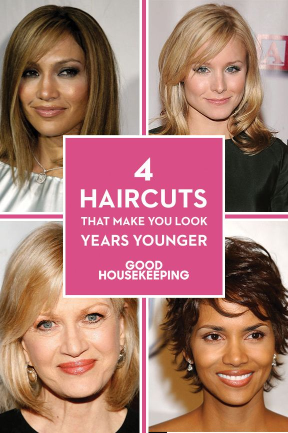 haircuts younger - flattering