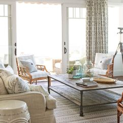 Beach Style Living Room Decor Target Rugs House Coastal Decorating Tips And Tricks Image Lisa Romerein Cottage