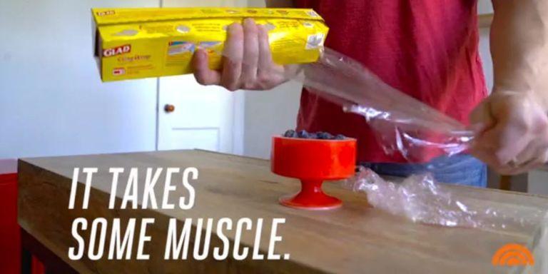plastic wrap box tricks