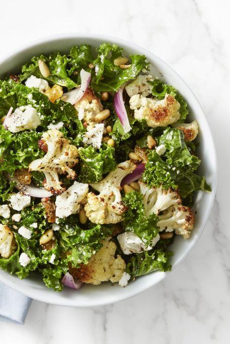 Kale and Roasted Cauliflower Salad