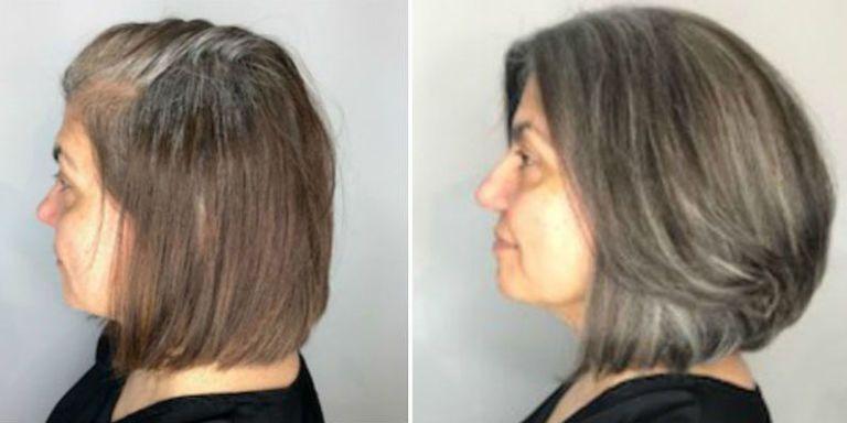 gray - tips transitioning