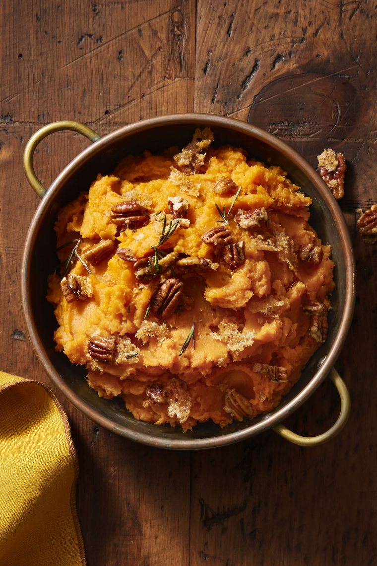 Rosemary-Pecan Sweet Potato Mash
