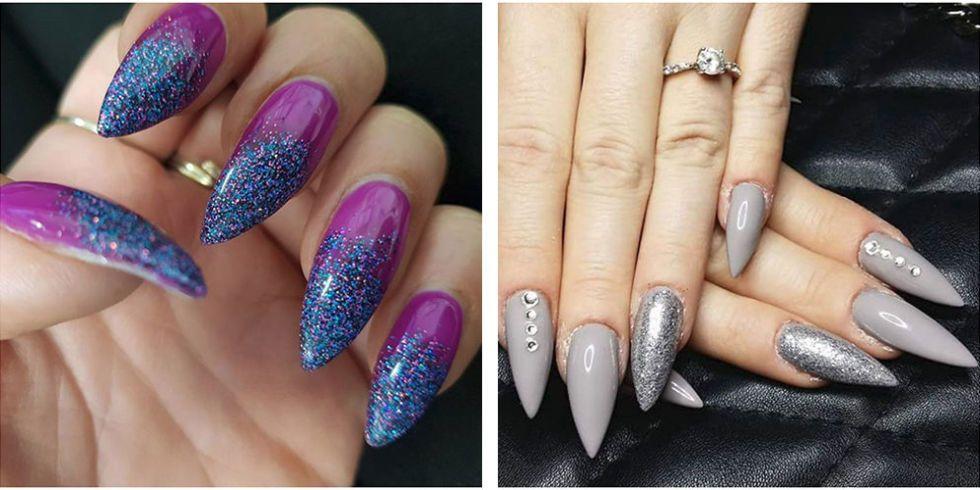 cute stiletto nail design