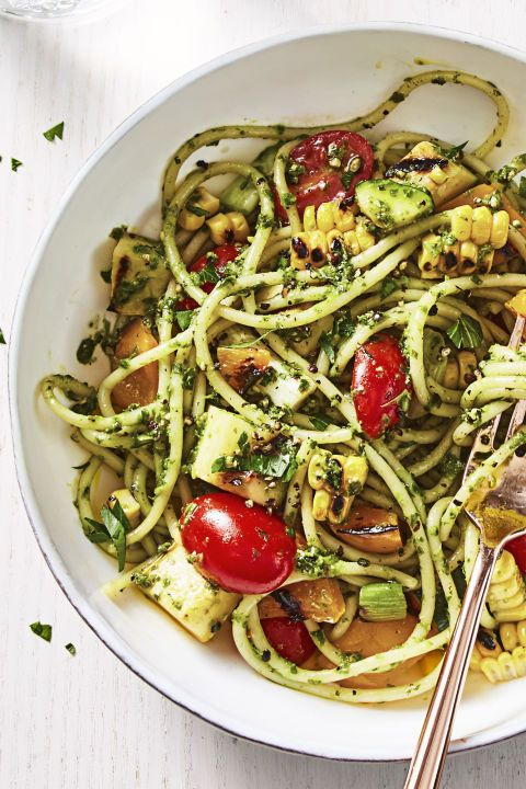 Summer Pesto Pasta - Healthy Lunch Ideas