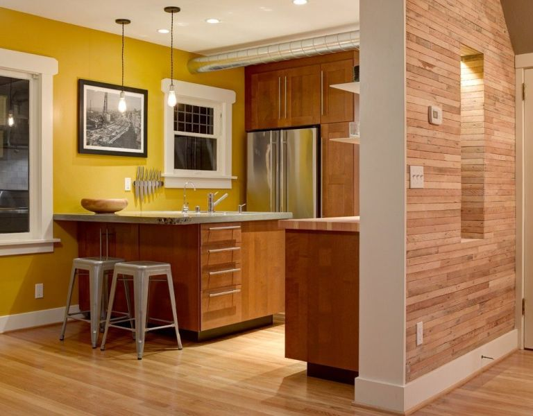 innovative yellow kitchen wall paint ideas | 17 Ideas para pintar la cocina y resaltar la decoración de ...